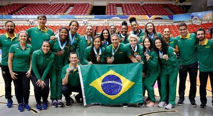 Brasil terminou a AmeriCup em terceiro colocado (Foto: Divulgação/Fiba)