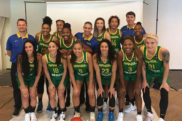 Equipe brasileira participou do media day da AmeriCup nesse sábado (Foto: Divulgação/CBB)
