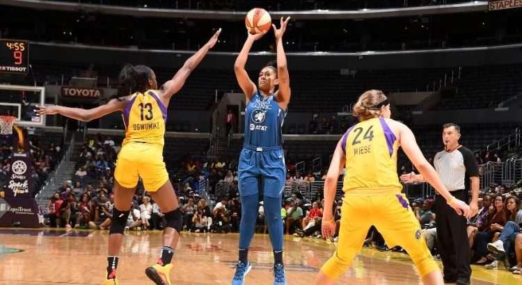 Damiris teve temporada sólida pelo Minnesota Lynx (Foto: Adam Pantozzi/WNBA)