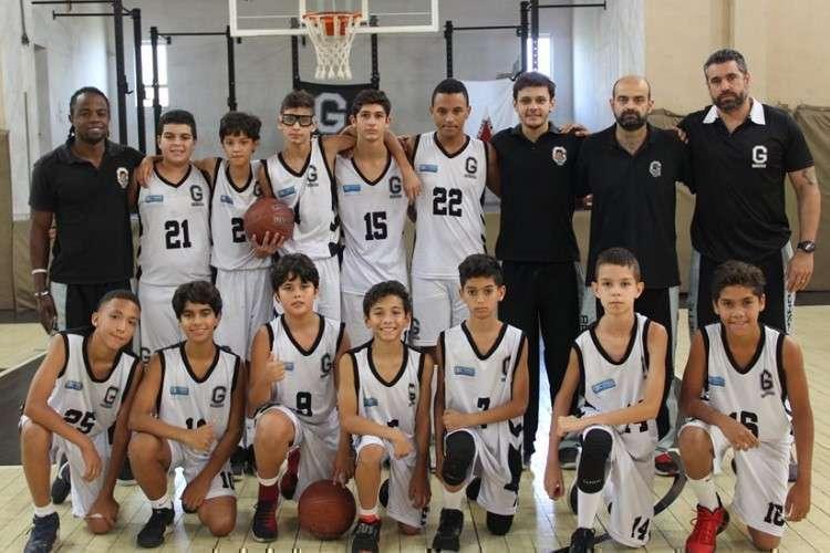 Equipe campeã do Metropolitano e do Mineiro Sub-12 (Foto: Divulgação/Ginástico)
