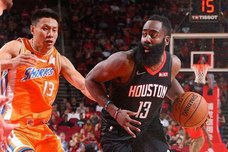 Ala-armador James Harden foi o destaque na vitória do Rockets dessa segunda-feira (Foto: Divulgação/NBA)