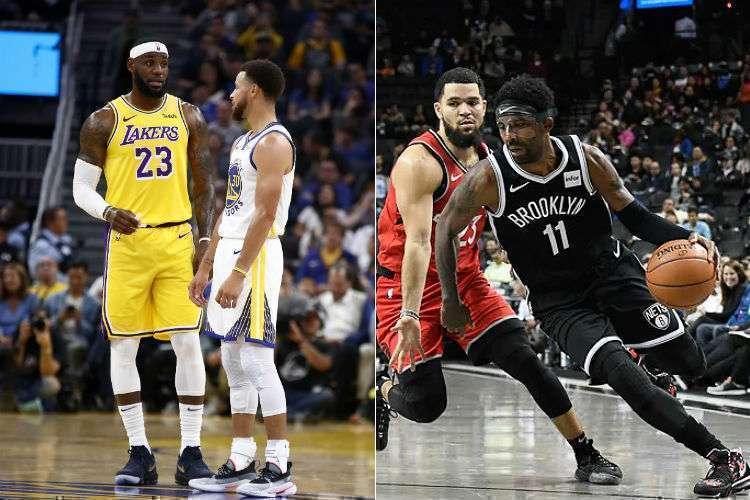 Oeste segue forte e com vários candidatos ao título, enquanto Leste ainda busca um grande poderio (Foto: Ezra Shaw/AFP; Divulgação/Brooklyn Nets)