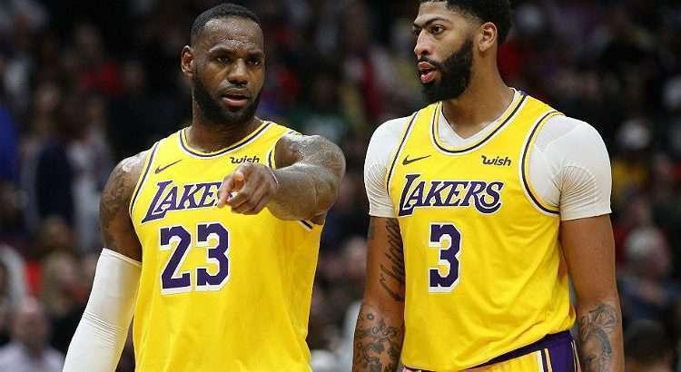 Lakers, de James e Davis, tem a melhor campanha da NBA (Foto: Chris Graythen/AFP)