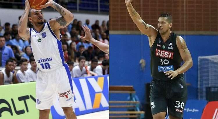 Alex e Hettsheimer são opções de Petrovic para integrar a Seleção Brasileira (Fotos: Orlando Bento/Minas; Ricardo Bufolin/Pinheiros)
