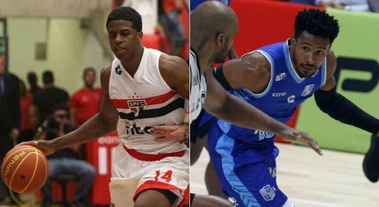 Georginho e Leandrinho são os destaques das equipes (Fotos: Reprodução/Twitter NBB; Orlando Bento/Minas)