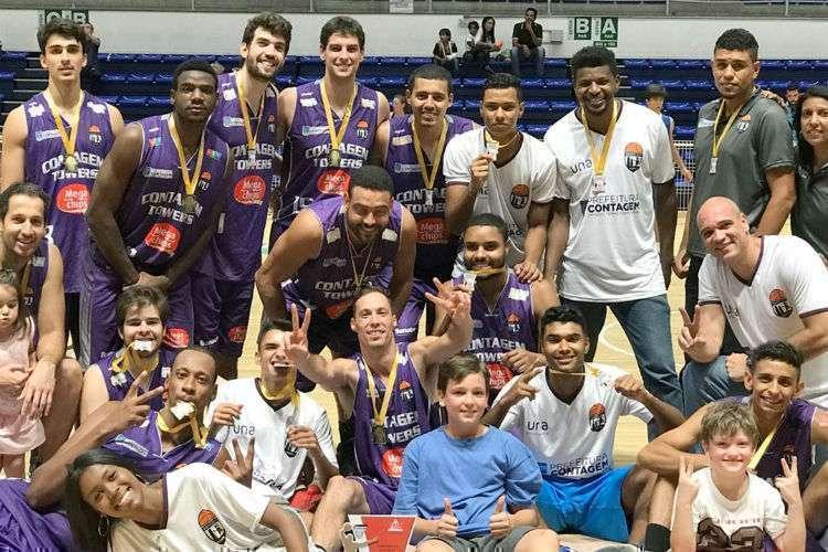 Contagem Towers, que atualmente não tem mais equipe adulta, foi campeã estadual em 2017 (Foto: Divulgação/Prefeitura de Contagem)