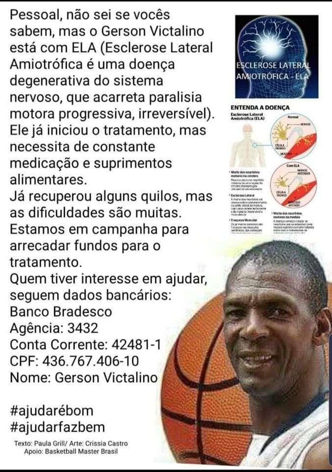 Informe compartilhado por amigos e familiares de Gerson Victalino