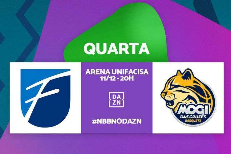 Equipes se enfrentam nesta quarta-feira, com transmissão do DAZN (Foto: Divulgação/NBB)