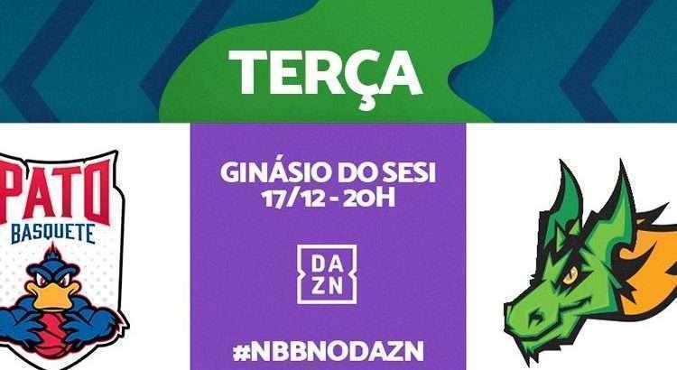 Equipes se enfrentam nesta terça-feira, com transmissão do DAZN (Foto: Divulgação/NBB)