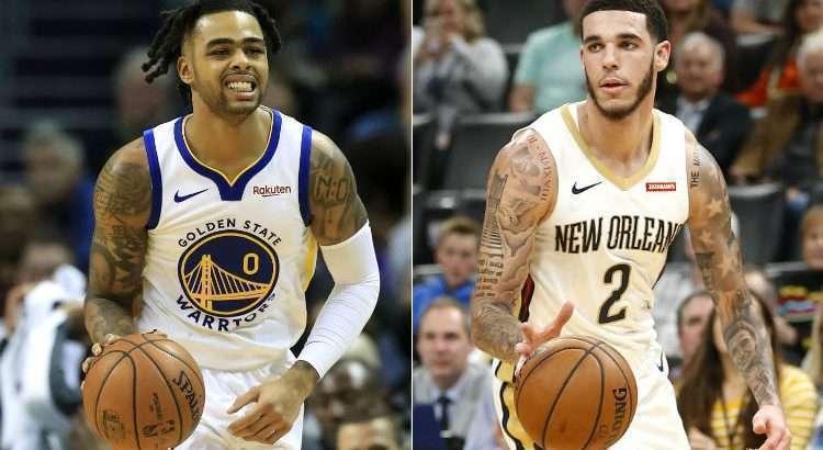 Warriors e Pelicans não corresponderam com as expectativas da liga (Fotos: Streeter Lecka e Ron Jenkins/AFP)