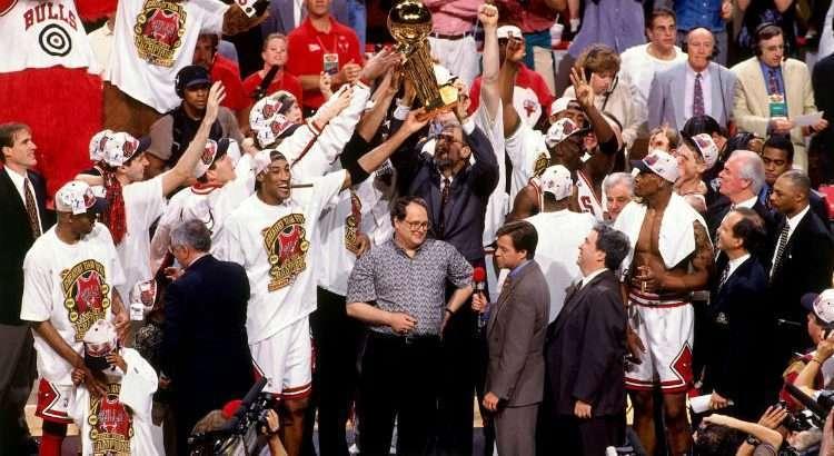 Chicago Bulls se sagrou campeão da NBA em 1996 (Foto: Divulgação/Chicago Bulls)
