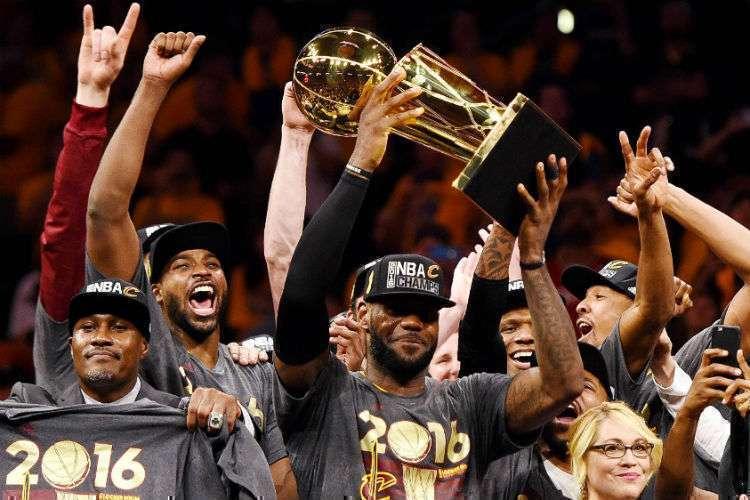Único título do Cleveland Cavaliers foi em um ano olímpico (Foto: Divulgação/NBA)