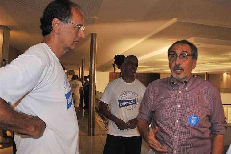 Kouros no dia da eleição à presidência do Conselho Deliberativo do Minas (Foto: Marcos Vieira/EM/D. A. Press)