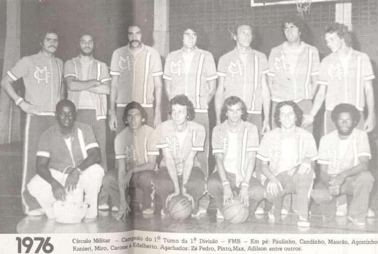 Equipe do Círculo Militar em 1976 (Foto: Divulgação/Círculo Militar)