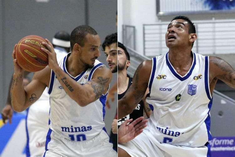 Alex e Shilton querem dar aulas de basquete após pararem de jogar profissionalmente (Foto: Orlando Bento/Minas)