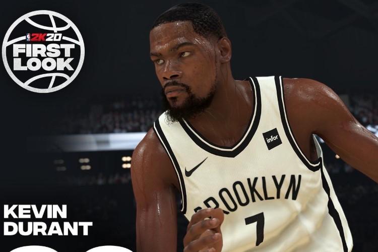 Durant é um dos jogadores que vão disputar o torneio de NBA 2K (Foto: Divulgação/2K)