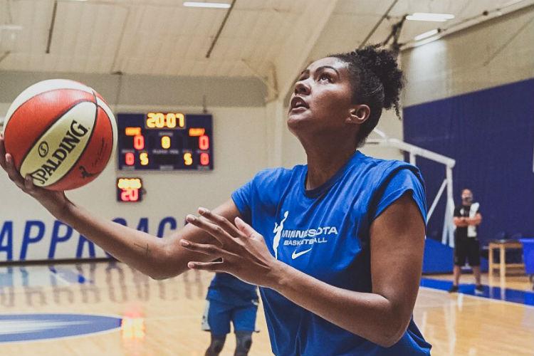Damiris é a única brasileira na temporada 2020 da WNBA (Foto: Divulgação/Minnesota Lynx)