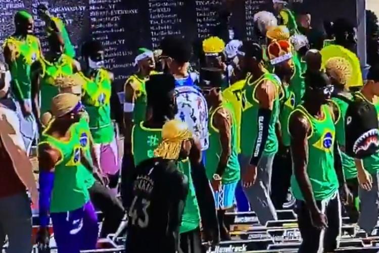 Movimento mostra comunidade brasileira no game NBA 2K (Foto: Reprodução/Twitter #WeNeedaBrazilianServerNBA2K)
