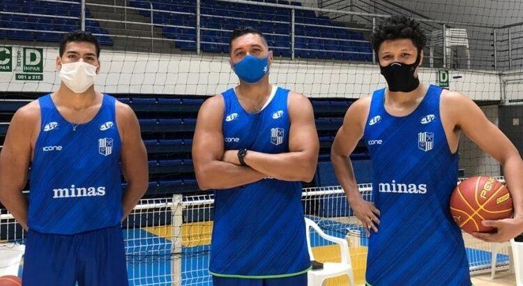 Queirós, Batista e Rafa Moreira já treinam no Minas (Foto: Divulgação/Minas)
