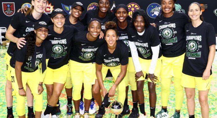 Storm conquistou o título de campeão da temporada 2020 da WNBA (Foto: Divulgação/WNBA)