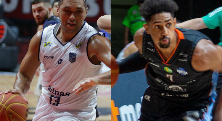 JP Batista e Morillo estarão em quadra neste sábado (Fotos: Gilvan de Souza/LNB; Divulgação/Unifacisa)