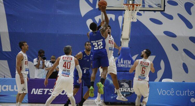 Minas está a uma vitória da semifinal do NBB (Foto: Orlando Bento/Minas)
