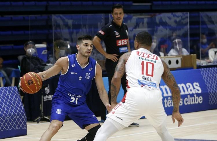 Luciano Parodi, do Minas, e Jamaal Smith, do Franca, foram dois destaques da partida da última quinta (Foto: Orlando Bento/Minas)