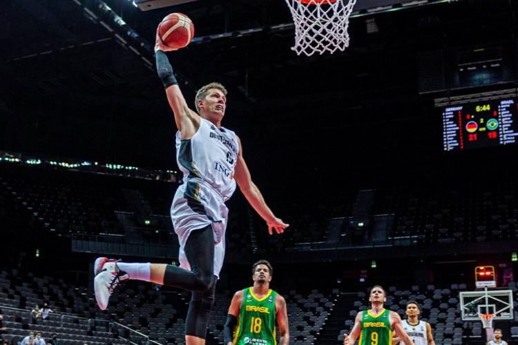 Moritz Wagner foi o destaque da partida, com 28 pontos (Foto: Tilo Wiedensohler/DBB)
