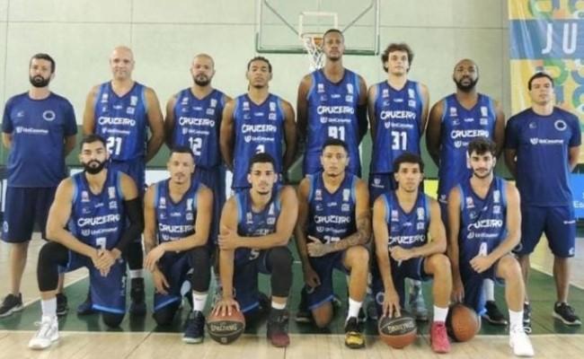 Equipe do Cruzeiro no JUBs (Foto: Divulgação/Cruzeiro Basquete)